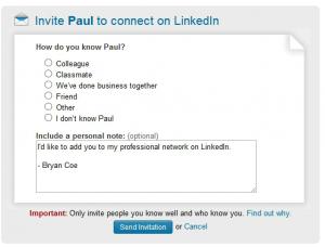 Bad LinkedIn Request